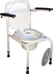 Стул туалет с откидными подлокотниками без регулировки по высоте (530х600х850)   СТО-2.1.0