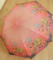 "Детский зонт ""Спанч Боб 4"" от компании Star Rain полуавтомат, 2 сложения, 8 спиц"