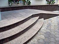 Термообработанные гранитные ступени