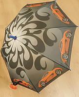 """Детский зонт """"Машины"""" от компании Star Rain полуавтомат, 2 сложения, 8 спиц"""