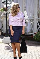 """Женская классическая """"замшевая"""" юбка больших размеров (рр 48-94), разные цвета"""