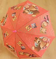 """Детский зонт """"Маша и Медведь"""" от компании Star Rain полуавтомат, 2 сложения, 8 спиц"""