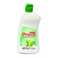 Жидкость для мытья посуды яблоко, 0,5 л Prava (96-271) шт.
