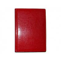 Ежедневник недатированный (линия) BRISK OFFICE SARIF Стандарт А5 (14,2х20,3) красный, кремовая бумага