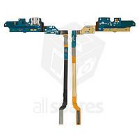 Шлейф для мобильного телефона Samsung I9500 Galaxy S4, коннектора зарядки, микрофона, с компонентами
