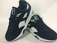 Мужские кроссовки PUMA trinomic натуральный замш,синие. лицензионное качество .размеры с 41 по 46й