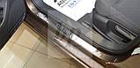 Защитные хром накладки на пороги Ford Connect II (Форд коннект 2013+), фото 2