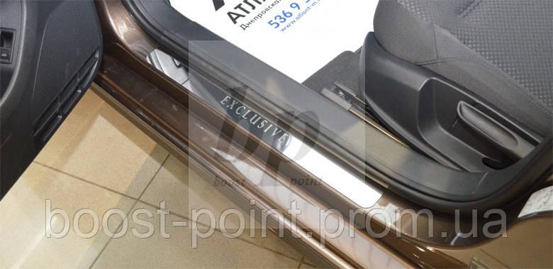 Защитные хром накладки на пороги Opel Signum (опель сигнум 2003-2008)
