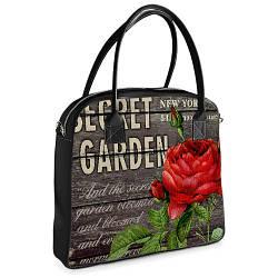 Сумка Ксения с принтом Красная роза