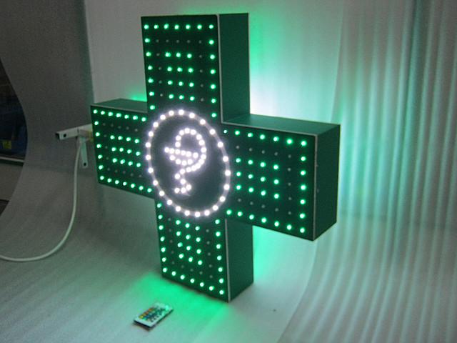 Изготовление светодиодного аптечного креста ak-48.com.ua
