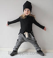 Демисезонные штаны гаремы. Унисекс. Размеры: 74-80 см, фото 1