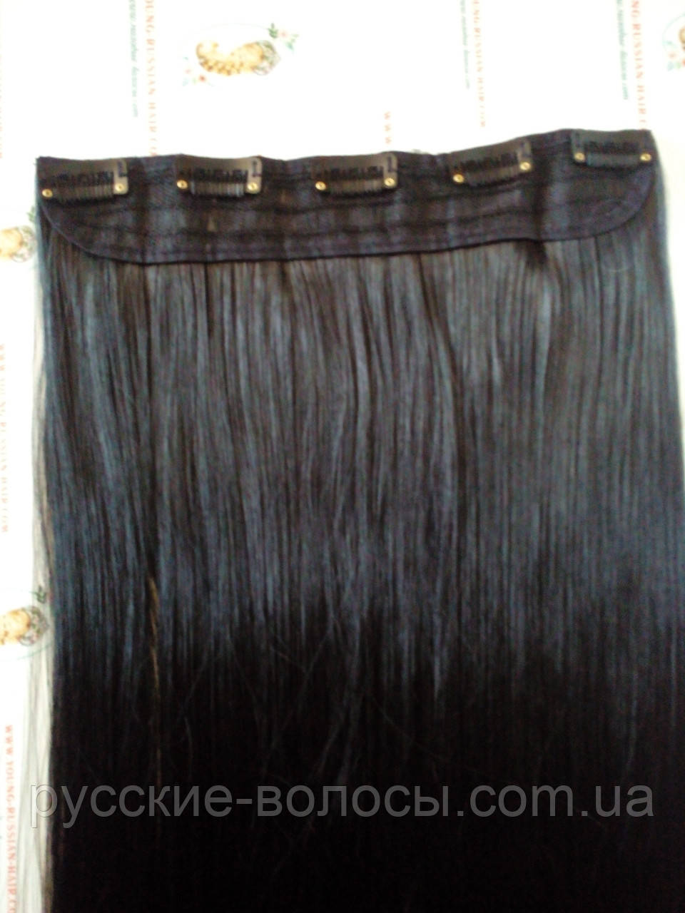 Искусственные волосики на заколках прямые 70 см