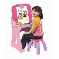 Парта-мольберт со стулом розовая Crayola Play 'N Fold 2-in-1 Art Studio
