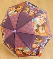 """Детский зонт """"Маша Медведь"""" от компании Star Rain полуавтомат, 2 сложения, 8 спиц"""