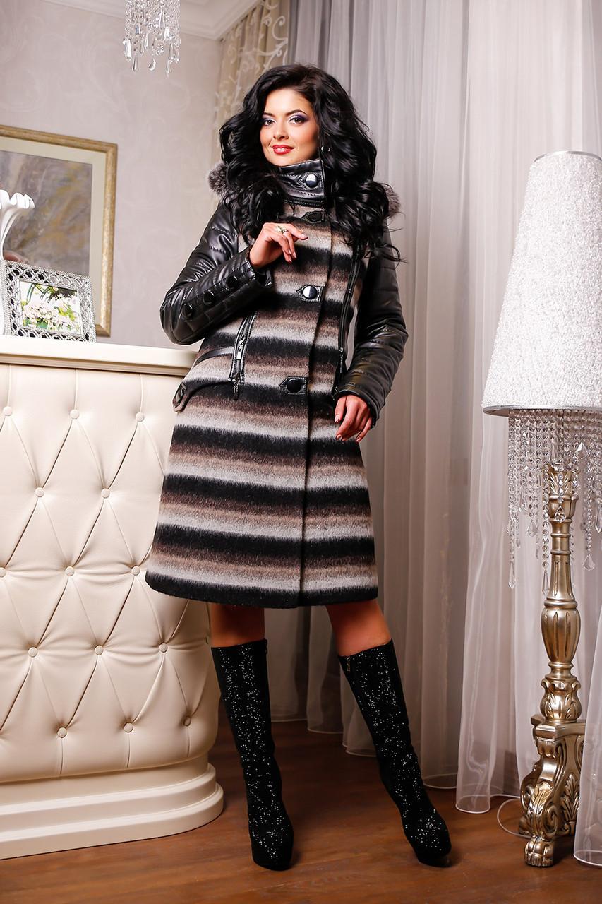 Женское зимнее пальто больших размеров (44-54) арт. 843 Тон 01