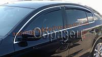 Дефлекторы боковых окон Sim для Volkswagen Touareg 2010+ хром