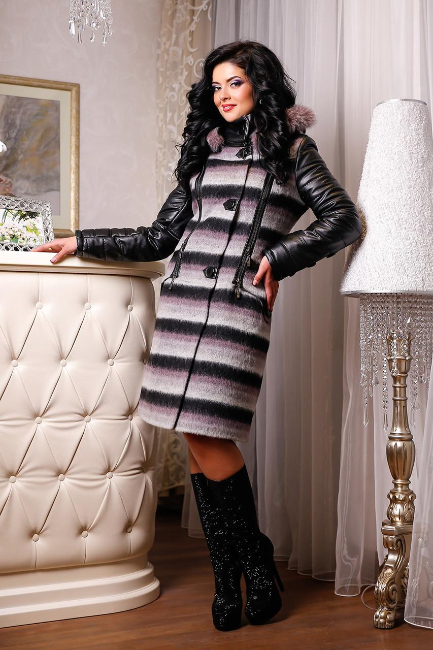 Женское зимнее пальто больших размеров (44-54) арт. 843 Тон 03