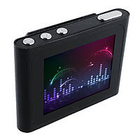 "MP3 MP4 плеер металл 1.8"" жк экран FM радио Ebook Reader MicroSD слот(под Ipod Nano 6th Gen) ЧЕРНЫЙ SKU0000281"
