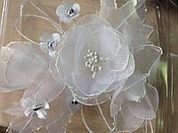 """Аксессуар """"Цветок белый"""" handmade"""