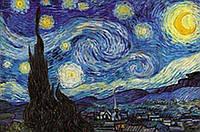 Набор алмазной мозаики Звездная ночь Ван Гог DIY 30 х 45 см (арт. FS274)