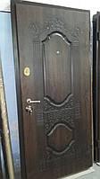 Двери Премиум для улицы с патиной и стеклопакетом