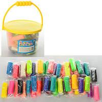 Тесто - пластилин для лепки MK 0028, 24 цвета