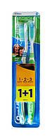 Зубные щетки Oral-B 1+1 Natural Fresh 1-2-3 40 medium (средней жесткости)