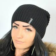 Черная классическая шапка, фото 1