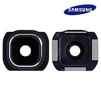 Стекло камеры для Samsung Galaxy S6 G920F, синее, оригинал
