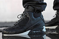 "Непромокающие кроссовки Nike Air Max 90 Winter Sneakerboot ""Black Reflective"" , фото 1"