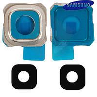 Стекло камеры для Samsung G928 Galaxy S6 EDGE+, золотистое, оригинал