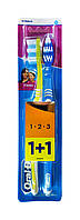 Зубные щетки Oral-B 1+1 Classic 1-2-3 40 medium (средней жесткости)