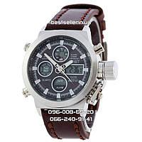 Часы военные водонепроницаемые AMST (Кварц) Silver.