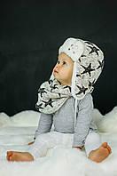 Детская зимняя шапка (набор) для девочек ШЭЛ оптом размер 46-48-50