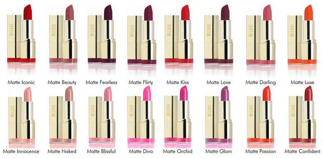 Матовая помада Milani Matte Color Statement Lipstick