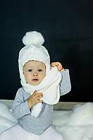 Детская зимняя шапка (набор) для девочек ДИАНА оптом размер 46-48-50