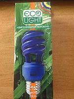 Энергосберегающаая лампа Eco Light 15W E27 синяя