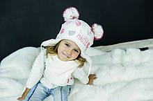 Детская зимняя шапка (набор) для девочек ЧИКО оптом размер 46-48-50