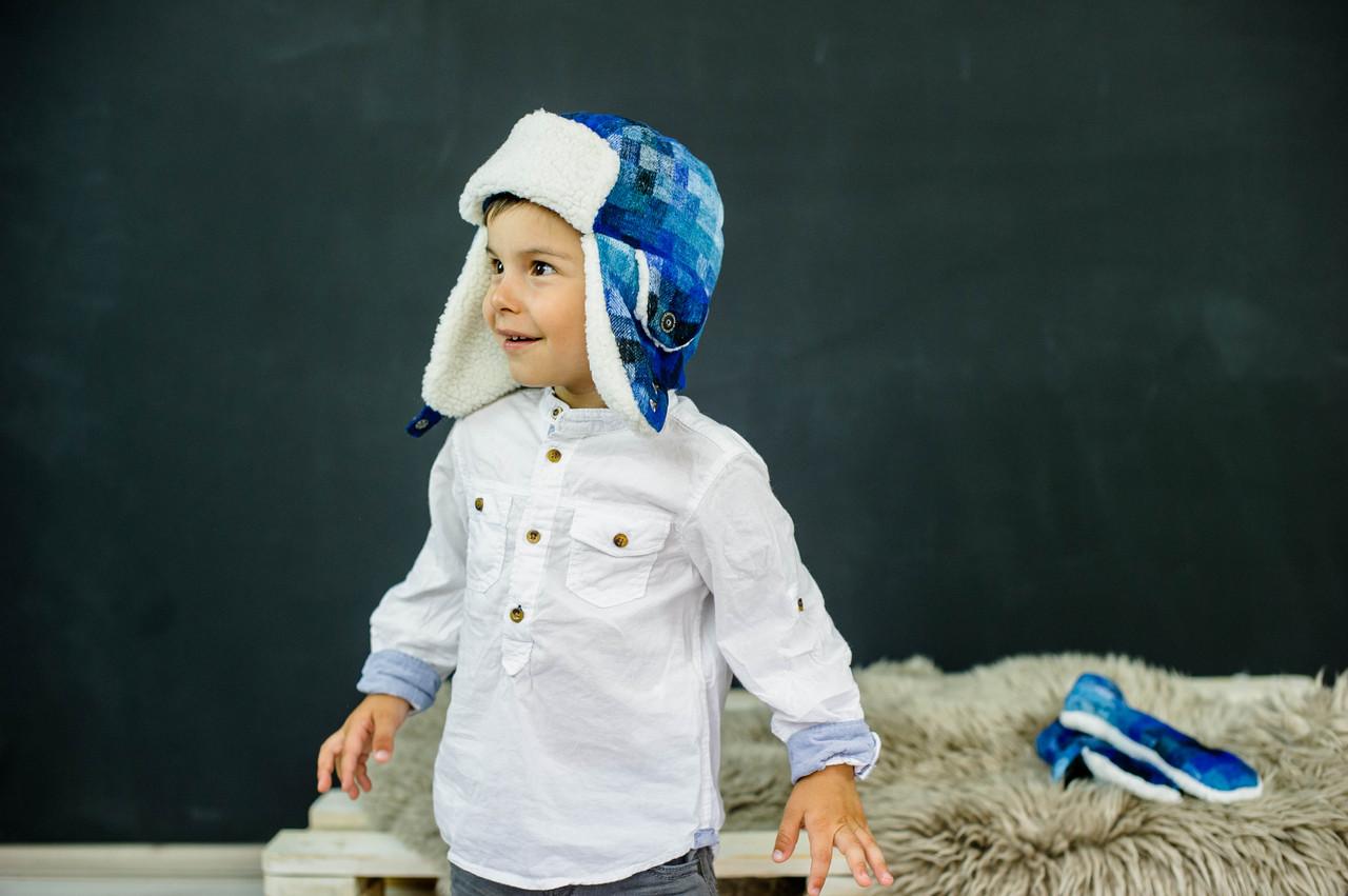 Детская зимняя шапка (набор) унисекс МИЛЛЕР оптом размер 48-50-52