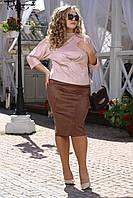 """Женская """"замшевая"""" юбка больших размеров (рр 48-94), разные цвета"""