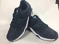 Мужские кроссовки PUMA trinomic натуральная кожа,лицензионное качество ,цвет синий.размеры с 41 по 46