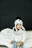 Детская зимняя шапка (набор) для девочек СОЛАР  оптом размер 48-50-52, фото 2