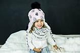 Детская зимняя шапка (набор) для девочек СОЛАР  оптом размер 48-50-52, фото 3