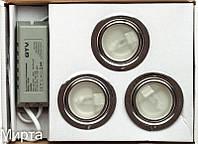 Набор 3 светильника+трансформатор 3H-5/L хром GTV (БС)