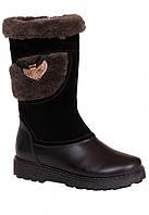 Детские зимние кожаные сапоги Каприз размеры 31-35