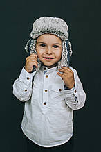 Детская зимняя шапка  для мальчиков МАТЭО оптом размер 46-48-50