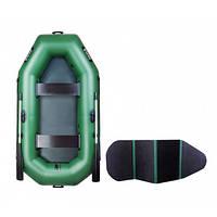 Двухместная надувная лодка Ладья с подвижным сидением и жестким настилом ЛТ-250-ВЕ