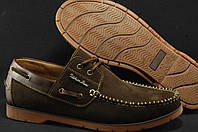 Топсайдеры мужские коричневые натуральнй нубук