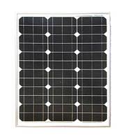 Cолнечная батарея (панель) 50Вт 12В монокристаллическая. Perlight Solar Co