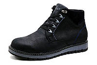Ботинки мужские зимние Trike, на меху, натуральная кожа, черные, р. 40